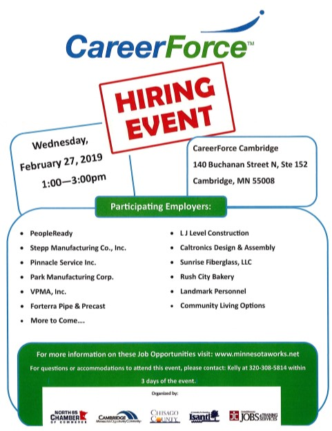 02.27.19 Career Force Hiring Event